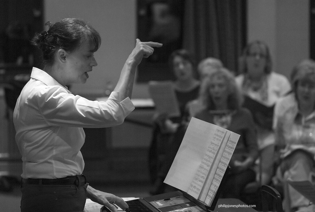 Jill directing a rehearsal of Potters Bar Community Choir
